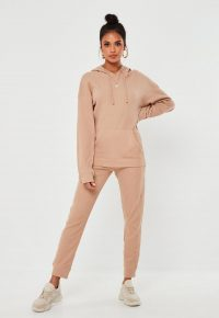 MISSGUIDED camel waffle loungewear set