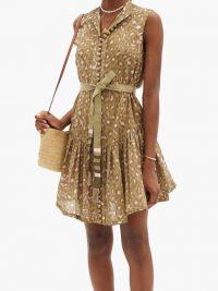 ZIMMERMANN Carnaby leopard-print cotton dress