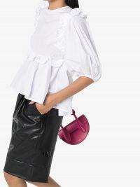 CECILIE BAHNSEN Marie ruffled cotton blouse | white frill trim blouses
