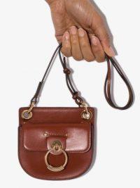 CHLOÉ Tess brown leather mini bag / small bags