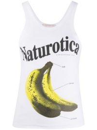 Christopher Kane Naturotica banana print sleeveless top / bananas / tank tops