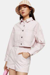 CONSIDERED High Waist Pink Denim Paperbag Shorts