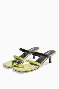 TOPSHOP CONSIDERED VIVIA Vegan Button Mules / green retro sandals