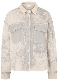 COTTON CITIZEN Brooklyn tie-dyed cotton jacket in grey