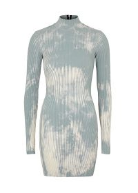 COTTON CITIZEN Ibiza tie-dyed jersey mini dress / high neck ribbed dresses