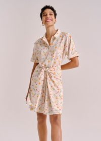 WHISTLES DOLLY FRUIT TIE FRONT DRESS