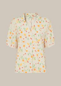 WHISTLES FRUIT PRINT SHIRT Cream/Multi