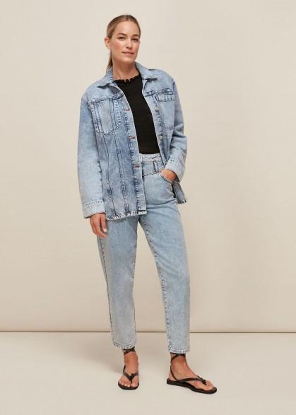 Whistles ACID WASH DENIM OVERSHIRT | 80s style casual fashion