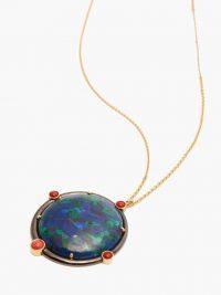 MUKHI SISTERS Diplowomen Globe azurite & 18kt gold necklace / round pendants
