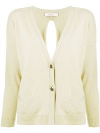 Dorothee Schumacher Soft Volumes open-back cardigan ~ yellow cashmere cardigans