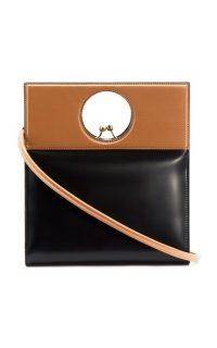 USISI Eddie Two-Tone Leather Top Handle Bag ~ chic handbags