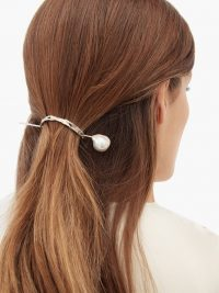 NADIA SHELBAYA 219 Elusive pearl & sterling-silver hair pin