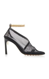 Bottega Veneta Embellished Mesh And Leather Pumps in Black