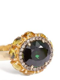 ILEANA MAKRI Eternity Flower diamond, sapphire & 18kt gold ring ~ luxe statement rings