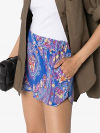 ETRO paisley-print shorts / blue lightweight side slit short