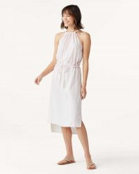 SPLENDID Falmouth Dress Oechid Tint | effortless summer style fashion | hi-low hemline