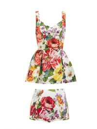 DOLCE & GABBANA Floral-print peplum top and briefs ~ summer co-ordinated clothing ~ beautiful Italian fashion