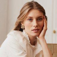 BALZAC PARIS X LA REDOUTE COLLECTIONS Flower Stud Earrings in Gold Effect