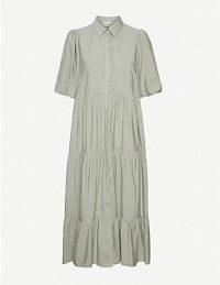 GESTUZ Kirita ruffled crepe dress ~ pale green dresses