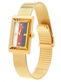 GUCCI G-Frame Sylvie Web-striped watch ~ ladies luxury watches