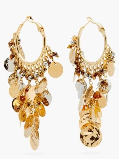 ROSANTICA Gitana coin-embellished hoop earrings