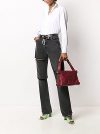 GIVENCHY medium ID93 shoulder bag in plum red leather
