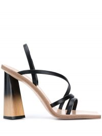 GIVENCHY sculpted heel sandals / strappy square toe sandal