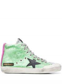 GOLDEN GOOSE Francy sequinned high-top sneakers | luxe hi tops