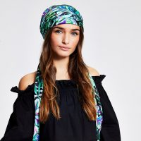 River Island Green floral print headscarf | head scarves