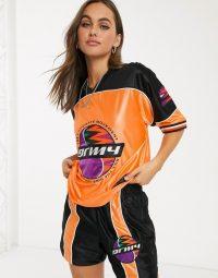 Grimey oversized t-shirt with logo co-ord orange