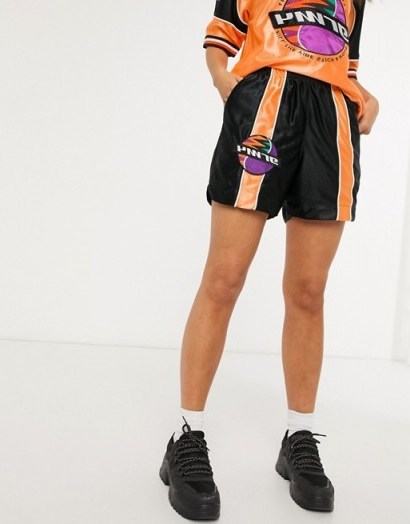 Grimey shorts with stripe detail co-ord / logo prints - flipped