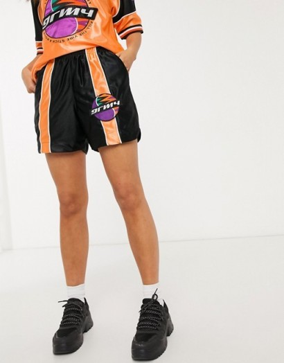 Grimey shorts with stripe detail co-ord / logo prints