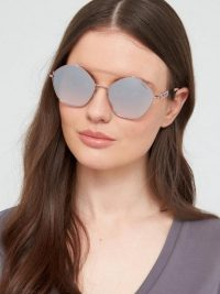 Guess GU7644 Geometric Sunglasses – Lilac – very.co.uk