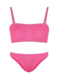 HUNZA G Gigi pink seersucker bikini ~ bright bikinis