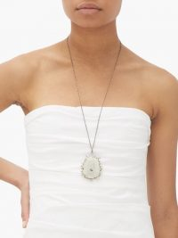 ILEANA MAKRI Iceberg pendant necklace / large pendants / longline necklaces