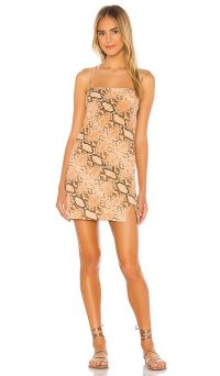 Indah Bea Bias Mini Dress Desert Python
