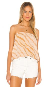 Indah Gemma Printed Tube Top Golden Zebra