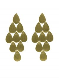 Irene Neuwirth 18kt yellow gold nine drop earrings / glamorous vintage style drops