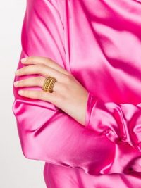 Isabel Lennse twisted spin ring / chunky statement rings