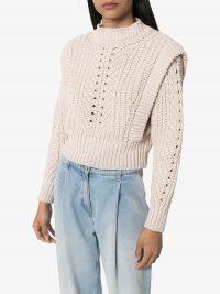 ISABEL MARANT Prune crochet knit sweater