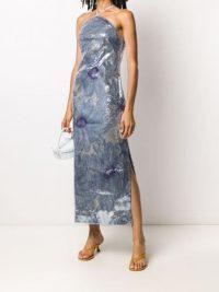 Jacquemus sequinned floral dress / blue event dresses