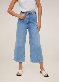 MANGO CARLOTA Jeans culotte high waist medium blue