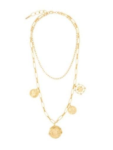 Jennifer Behr Pangea short necklace / multi pendant necklaces / ancient look pendants - flipped