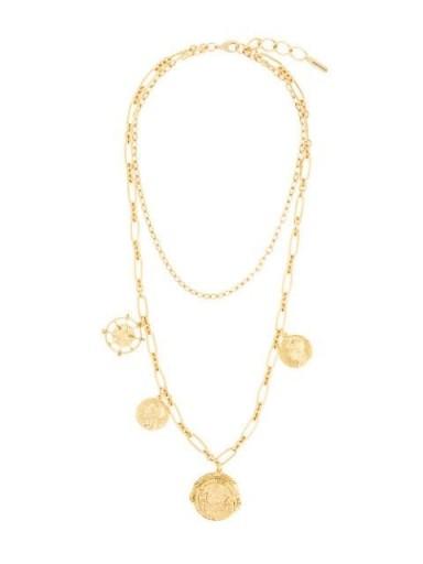 Jennifer Behr Pangea short necklace / multi pendant necklaces / ancient look pendants