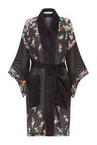 SPELL and the GYPSY COLLECTIVE JIMI MIDI ROBE Charcoal | floral robes | kimonos