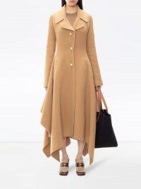 JW Anderson handkerchief single-breasted coat ~ camel wool coats