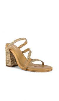 Kaanas Bali Naked Yute Heels Gold – block heel sandals