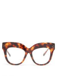 LINDA FARROW Keaton exaggerated-brow acetate glasses | vintage look frames