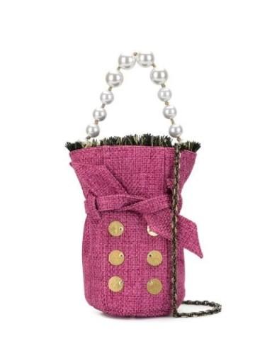 Kooreloo mini tweed bucket bag