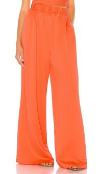 L'Academie The Oceane Pant Red Coral / bright floaty pants